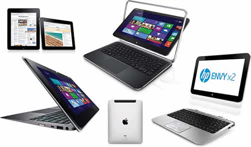 Windows 8 Hybrids - Ultrabooks - Apple iPad
