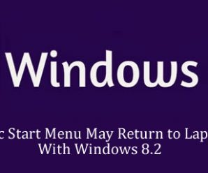 Classic Start Menu May Return to Laptops With Windows 8.2